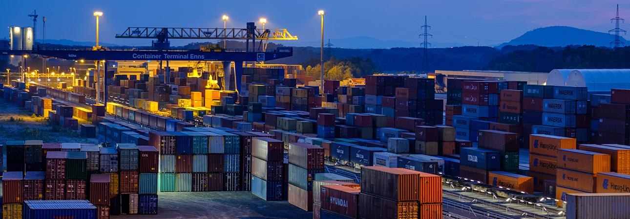 Containerterminal Ennshafen (c) Otto Hawlicek/CTE